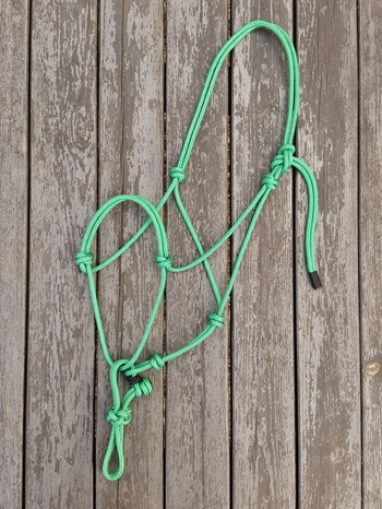 Rope halter with running rope connector - Cob, Green