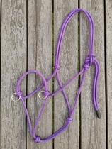 Sidepullrepgrimma med ringar - Ponny, Lila