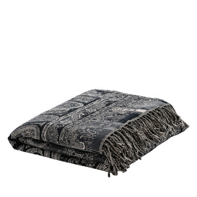 EROZ PAISLEY DARK GREY Throw