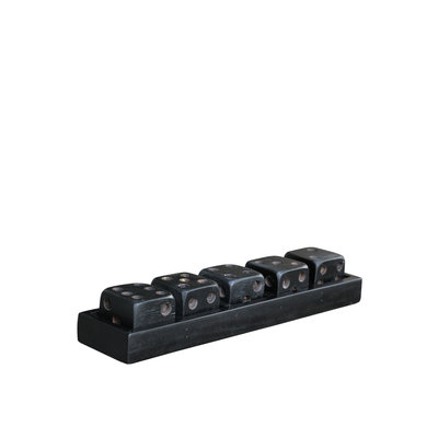 DICE Black game on tray