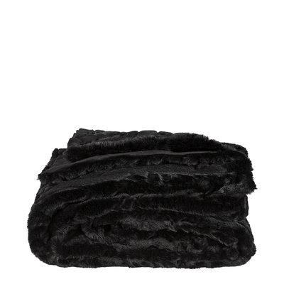 CELINE Solid Black Throw (2 sizes)