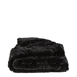 CELINE Solid Black Throw (2 sizes)