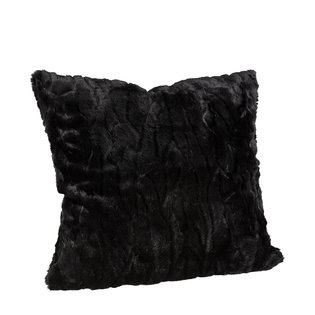 CELINE Solid Black Cushioncover