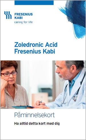 Patientkort Zoledronic Acid Fresenius Kabi