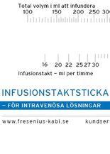 Infusions- och dropptaktsticka