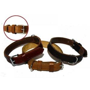 Enkelt läderhalsband