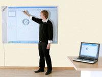 Halvmatt Whiteboard Alu 250x122 cm