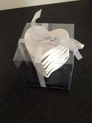 Skål Hjärta, vit 6 pack, från RBA