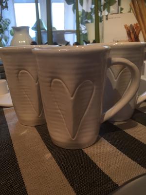 Mugg med hjärta, vit från Gro &Fägring.