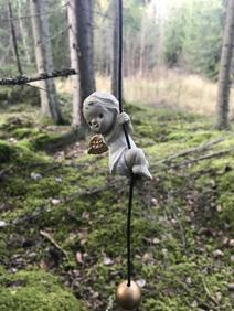 Hängande ängel, från Nääsgräsgården.