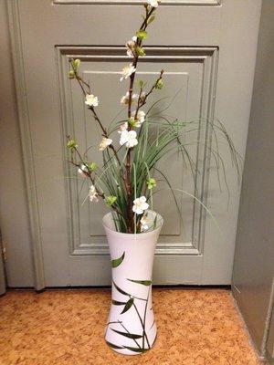 Vacker vas med grönt mönster, från RBA
