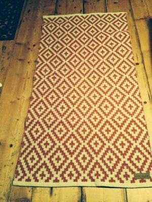 Matta röd/linne från B&J