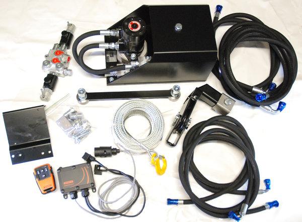 Hydraulic winch We-2200 M3S12 with radio control