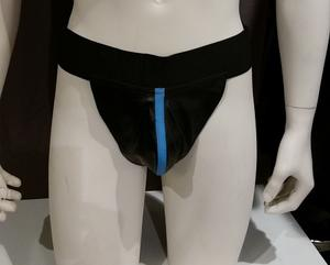 Leather Jocks with Light Blue Stripe