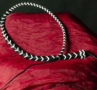 Snake whip Black White