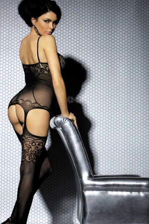 Black Intimate Lace Detail Body Stocking