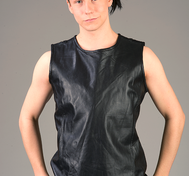 Sleeveless Leather Top
