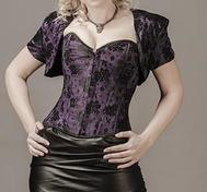 Overbust Purple Satin with Black Lace (+Bolero)
