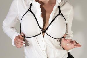 Shiny PVC Breast Harness Celine