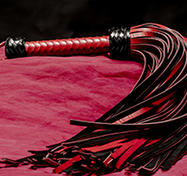 Leather Whip - 72-tailed Black genuine