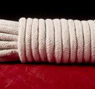 Bondage-Seil in weißer Baumwolle