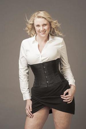 Underbust Svart IR Silke (T-shirt modell)