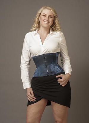 Underbust Blå IR Silke (T-shirt modell)