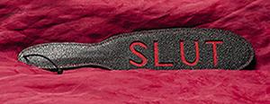 """Leder Paddle """"SLUT"""""""