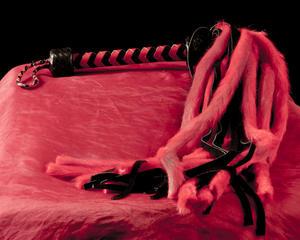 Long Red/Black whip – Shaman