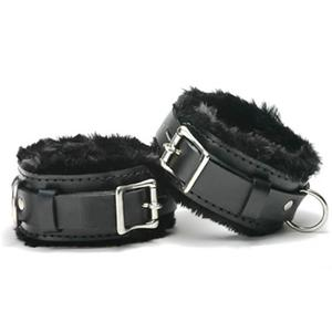 Lockable Ankle Restraints with Fur