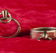 Oval Handcuffs in Stainless Steel, Small