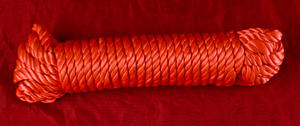 Red silk rope  for bondage