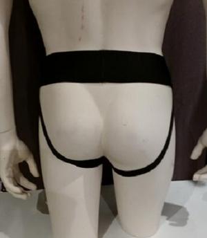 Leather Jocks with Black Stripe