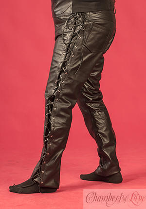 Black leather-pants MC-style