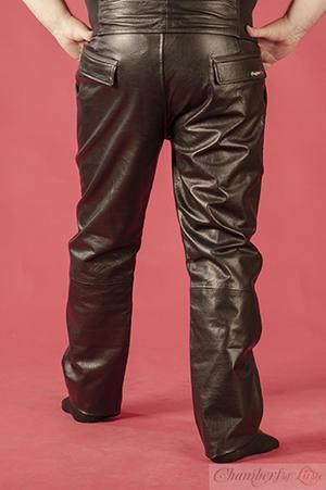 "Black Leather Pants - ""Loose Fit"""