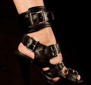 Padded Lockable Ankle Restraints in PU-leather