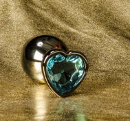 Anal Jewelry Heart Crystal (S - L)