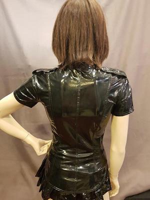 Short sleeved PVC Shirt with  Epaulettes