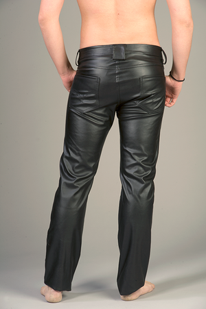 """Black Pants in PU Leather """"Classic model"""""""
