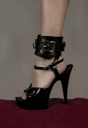 Lockable Padded Leather FootCuffs