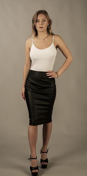 PU Pencil Skirt