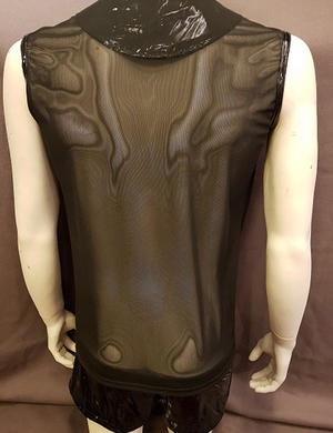 PVC Tanktop with Mesh and Lacing