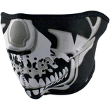 Zan Headgear halvmask Chrome Skull