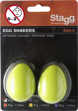 2Pc Egg Shakers/1 1/4Oz/Green