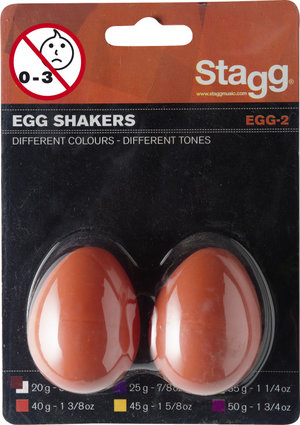 2Pc Egg Shakers/1 3/8Oz/Orange