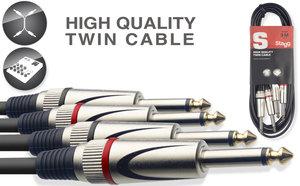 3M/10FT TWIN CABLE PLUG-PLUG