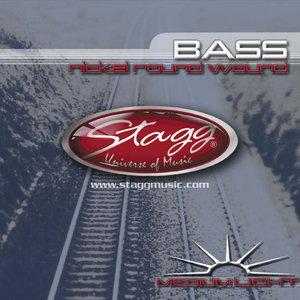 4-Str Bass Set/Ni Rnd Wd/Md.Lt