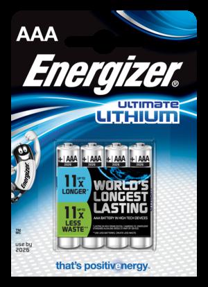 Energizer Litium AAA/4 st