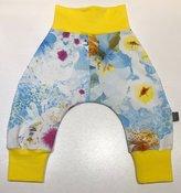 Baggypants blå/gul mönstrad jersey, 62/68