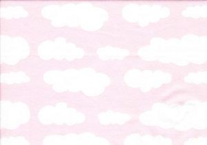 Ljusrosa jersey med vita moln